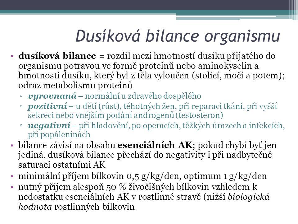 Dusíková bilance organismu