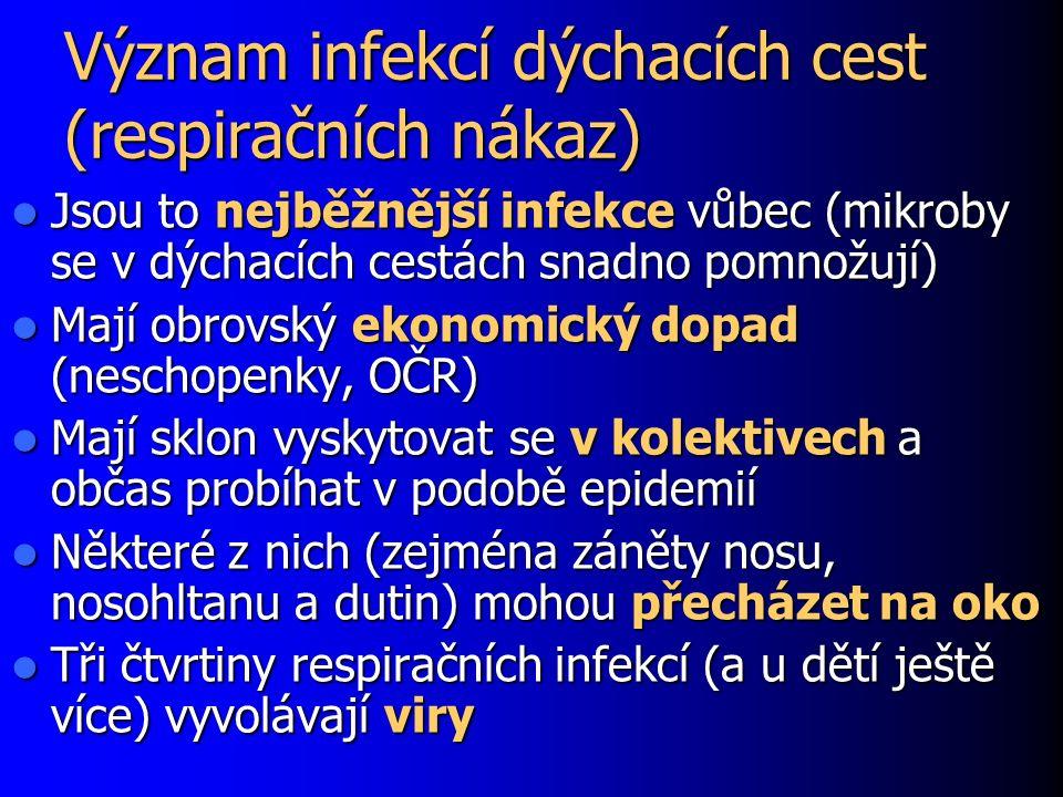 Význam infekcí dýchacích cest (respiračních nákaz)