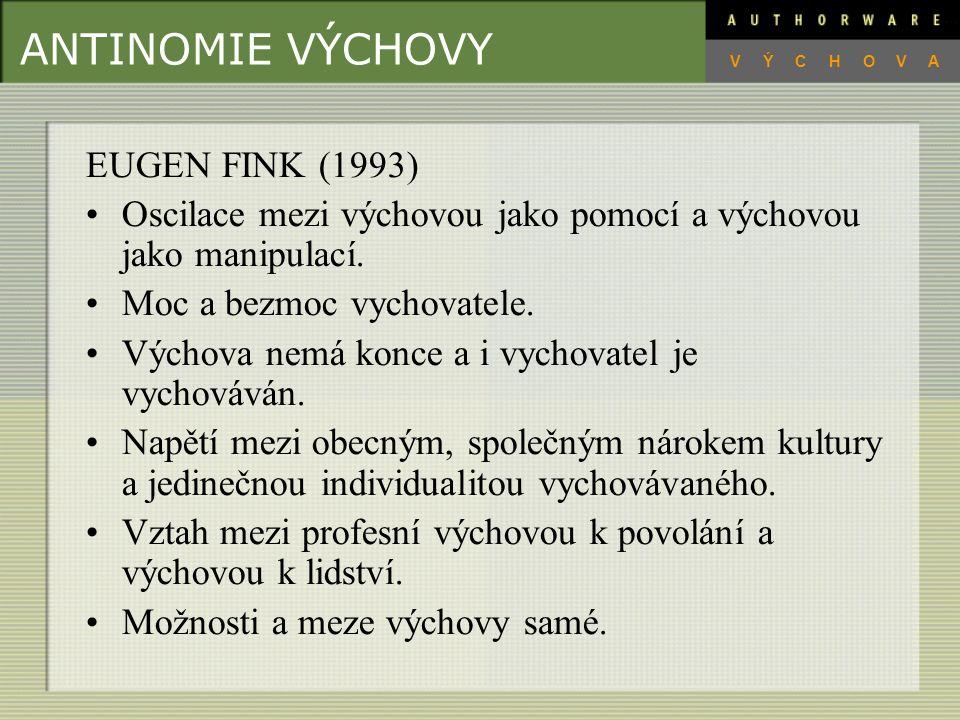 ANTINOMIE VÝCHOVY EUGEN FINK (1993)