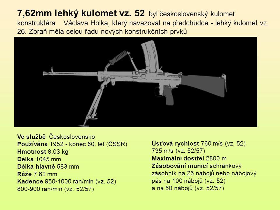 7,62mm lehký kulomet vz. 52 byl československý kulomet konstruktéra Václava Holka, který navazoval na předchůdce - lehký kulomet vz. 26. Zbraň měla celou řadu nových konstrukčních prvků