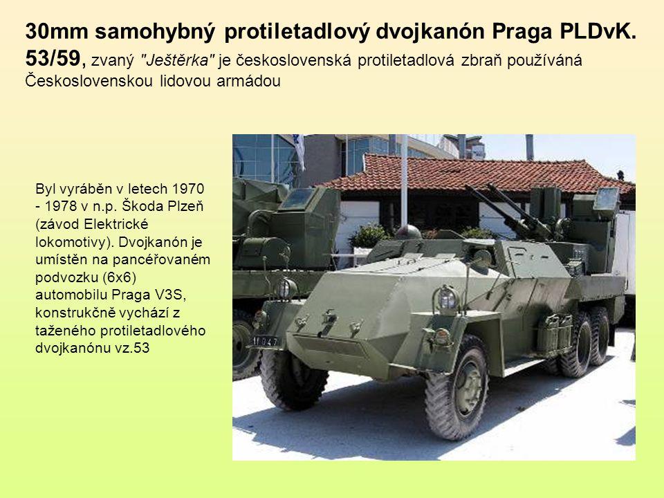 30mm samohybný protiletadlový dvojkanón Praga PLDvK