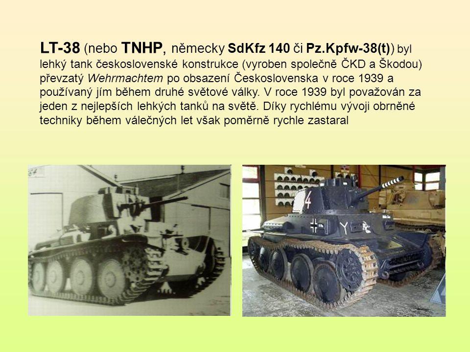 LT-38 (nebo TNHP, německy SdKfz 140 či Pz
