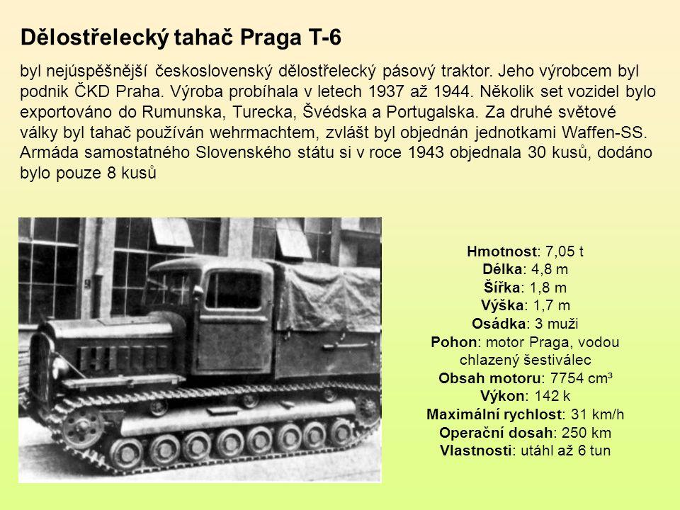 Dělostřelecký tahač Praga T-6