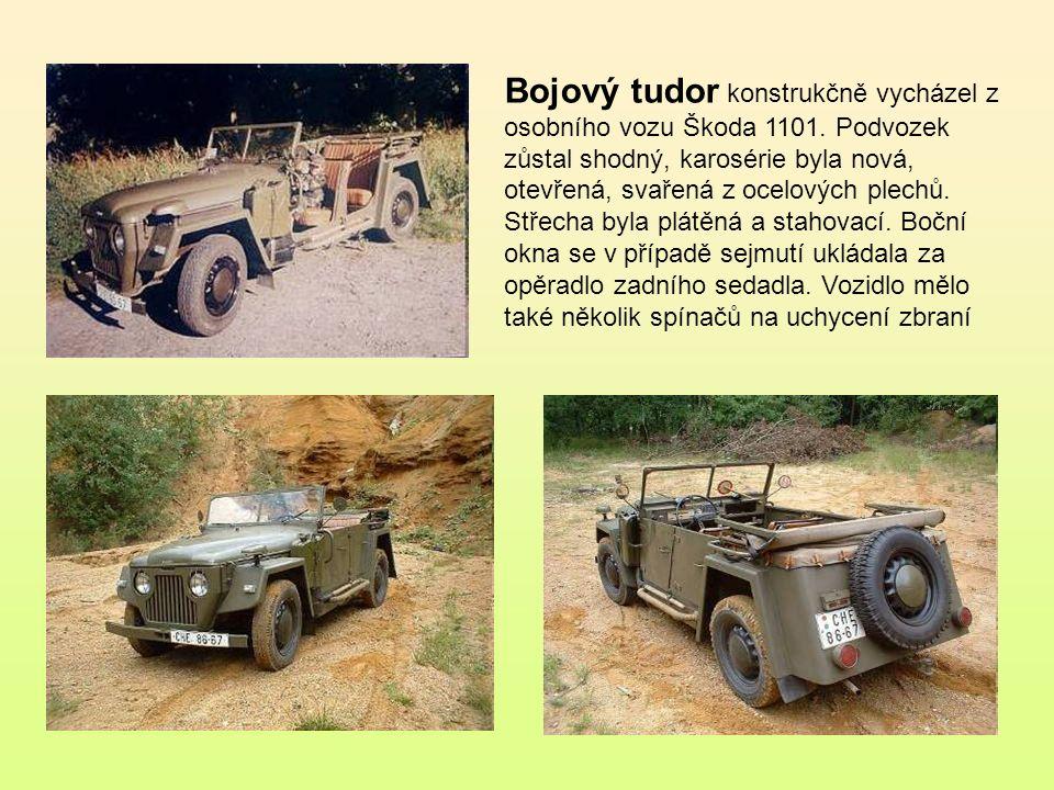 Bojový tudor konstrukčně vycházel z osobního vozu Škoda 1101