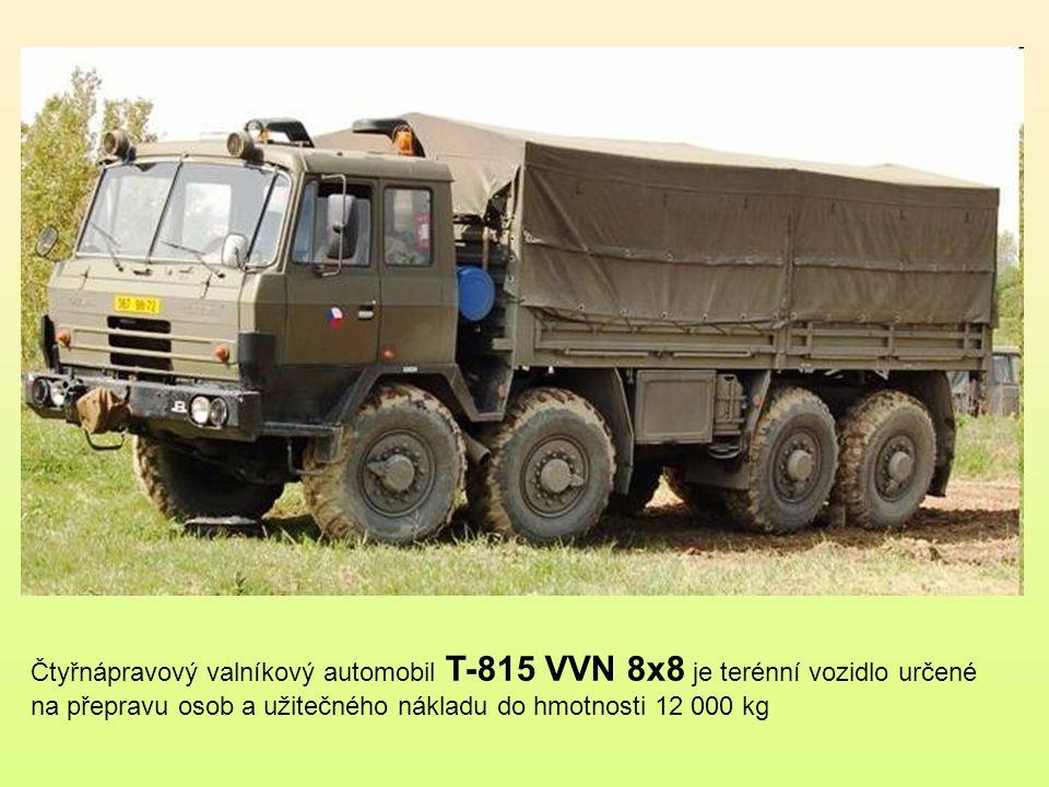 Čtyřnápravový valníkový automobil T-815 VVN 8x8 je terénní vozidlo určené na přepravu osob a užitečného nákladu do hmotnosti 12 000 kg