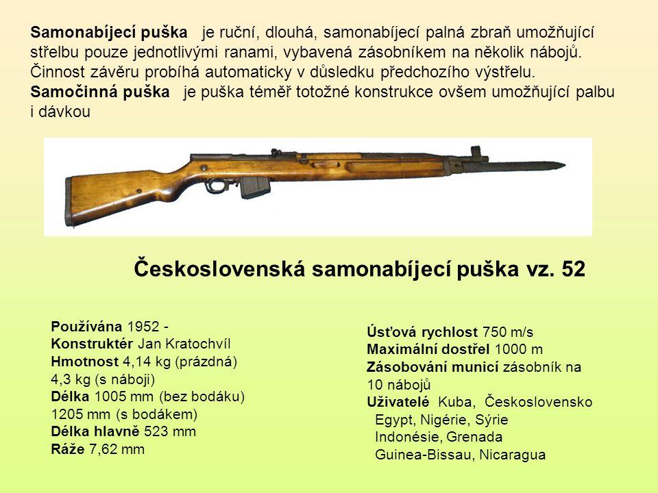 Československá samonabíjecí puška vz. 52