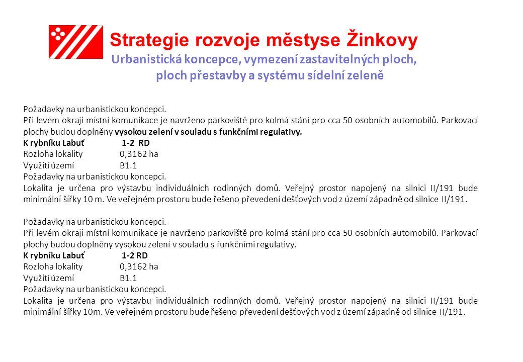 Strategie rozvoje městyse Žinkovy Urbanistická koncepce, vymezení zastavitelných ploch, ploch přestavby a systému sídelní zeleně