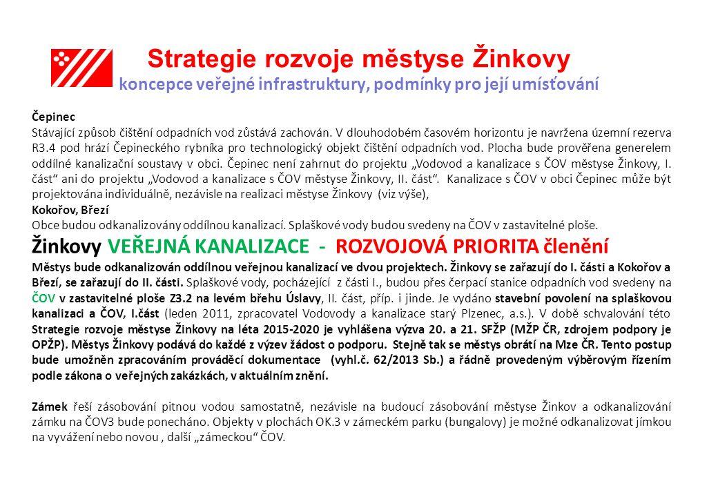 Strategie rozvoje městyse Žinkovy koncepce veřejné infrastruktury, podmínky pro její umísťování
