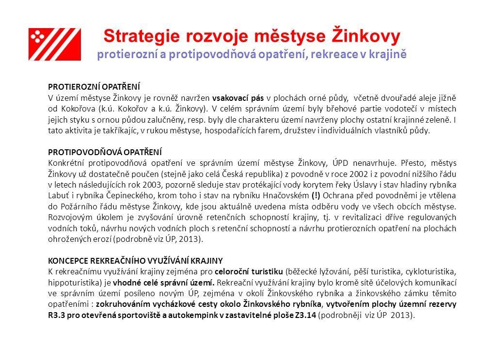 Strategie rozvoje městyse Žinkovy protierozní a protipovodňová opatření, rekreace v krajině