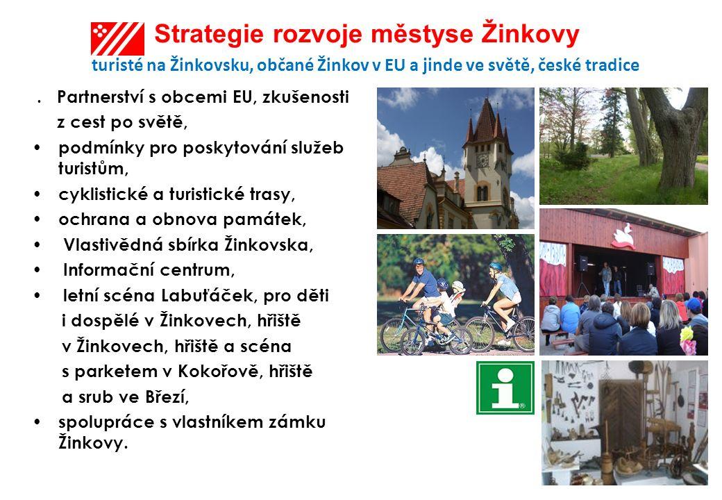 Strategie rozvoje městyse Žinkovy turisté na Žinkovsku, občané Žinkov v EU a jinde ve světě, české tradice