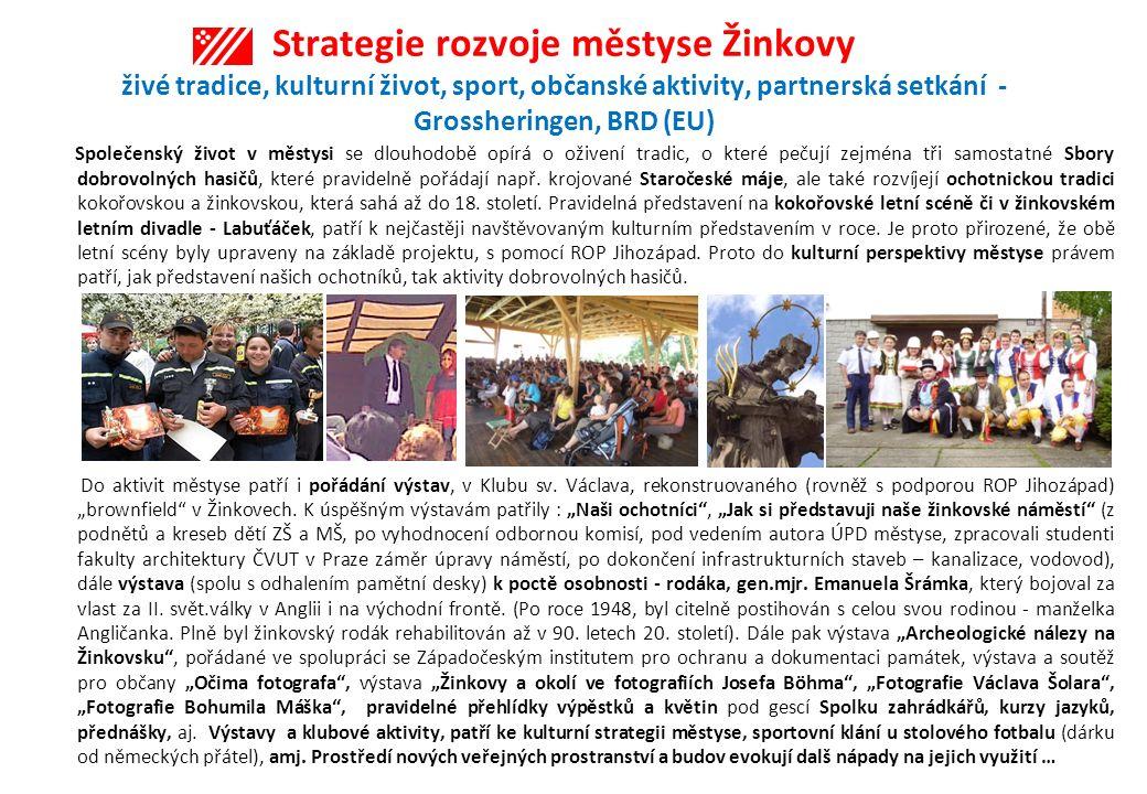 Strategie rozvoje městyse Žinkovy živé tradice, kulturní život, sport, občanské aktivity, partnerská setkání - Grossheringen, BRD (EU)