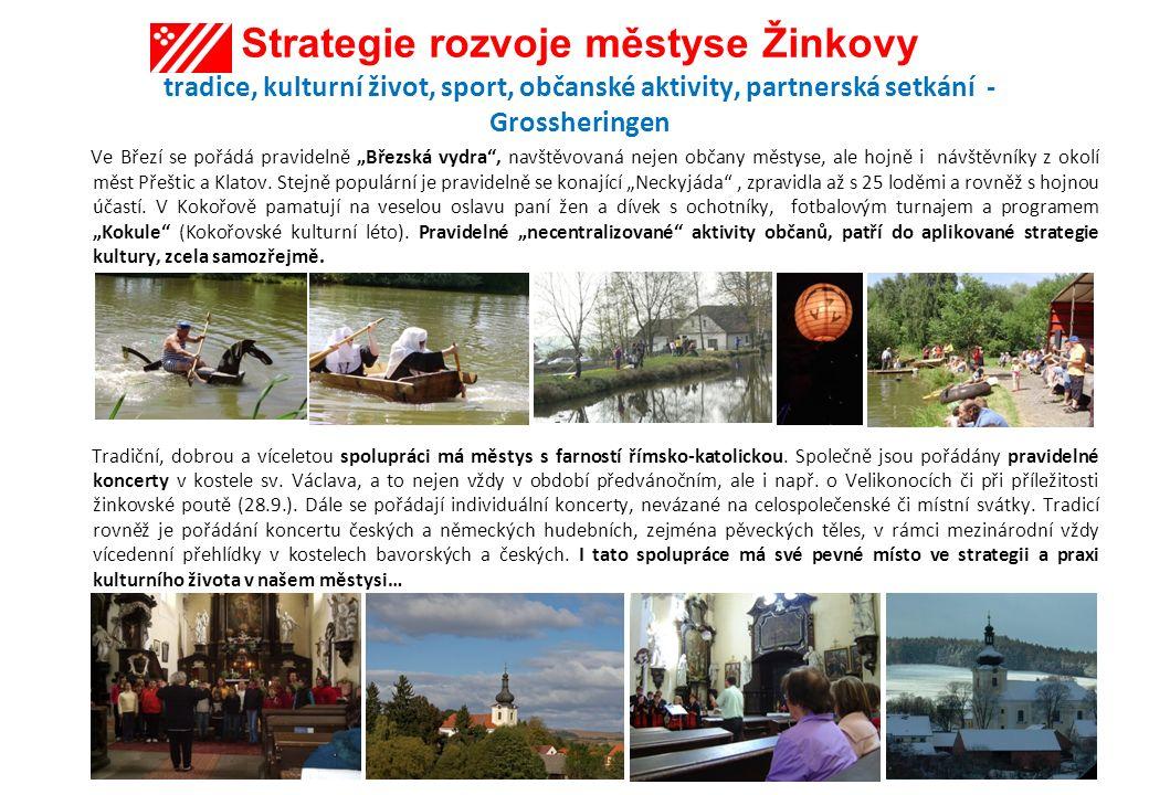 Strategie rozvoje městyse Žinkovy tradice, kulturní život, sport, občanské aktivity, partnerská setkání - Grossheringen