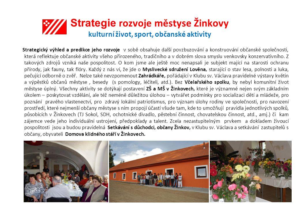 Strategie rozvoje městyse Žinkovy kulturní život, sport, občanské aktivity