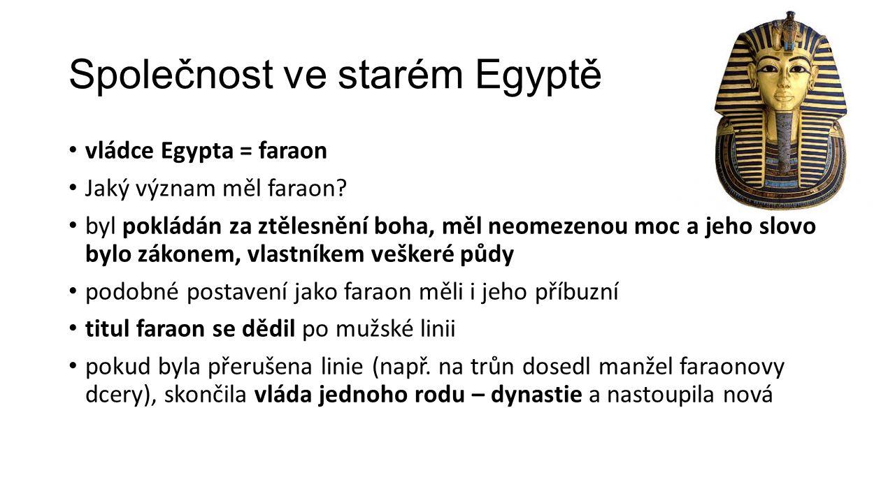Společnost ve starém Egyptě