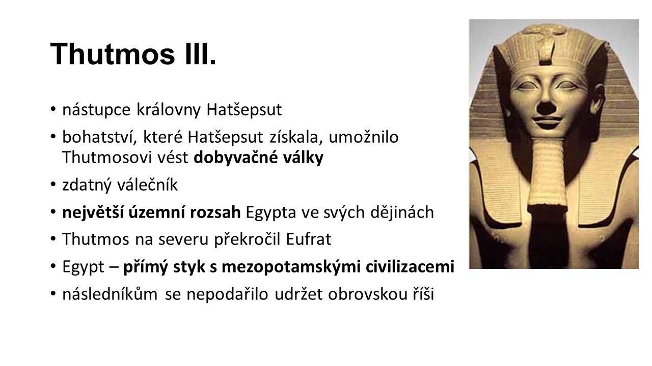Thutmos III. nástupce královny Hatšepsut