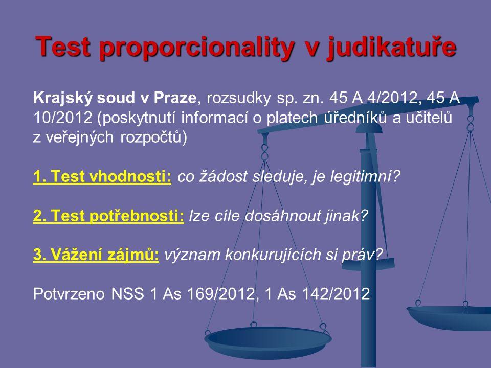 Test proporcionality v judikatuře
