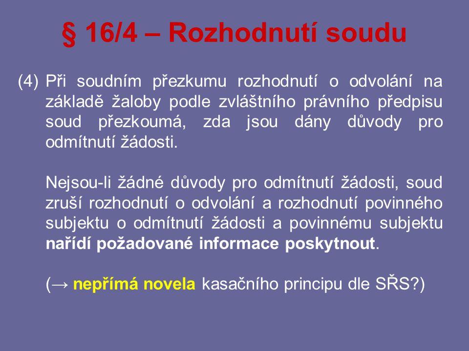 § 16/4 – Rozhodnutí soudu
