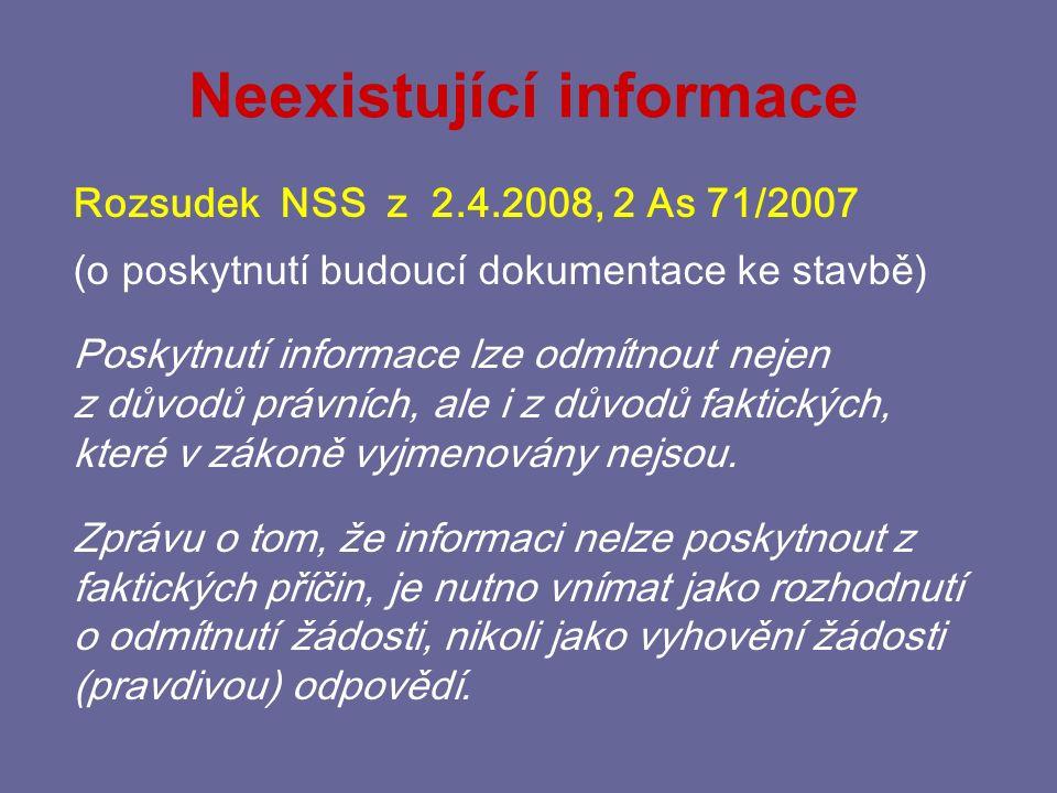 Neexistující informace