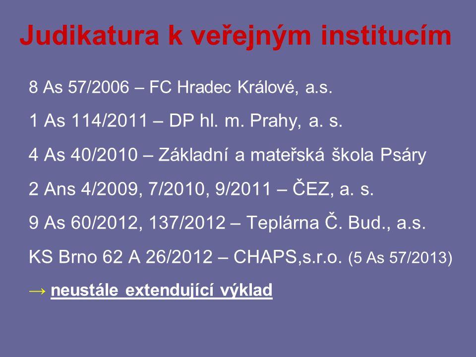 Judikatura k veřejným institucím