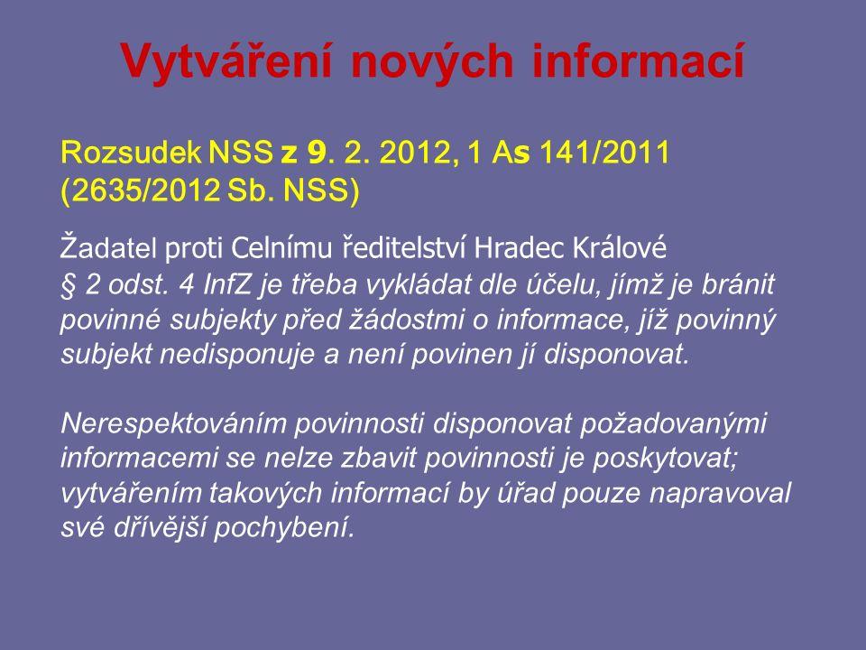 Vytváření nových informací