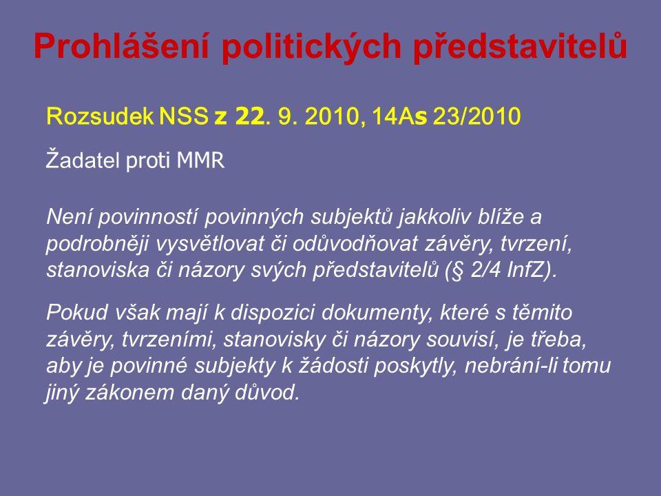 Prohlášení politických představitelů