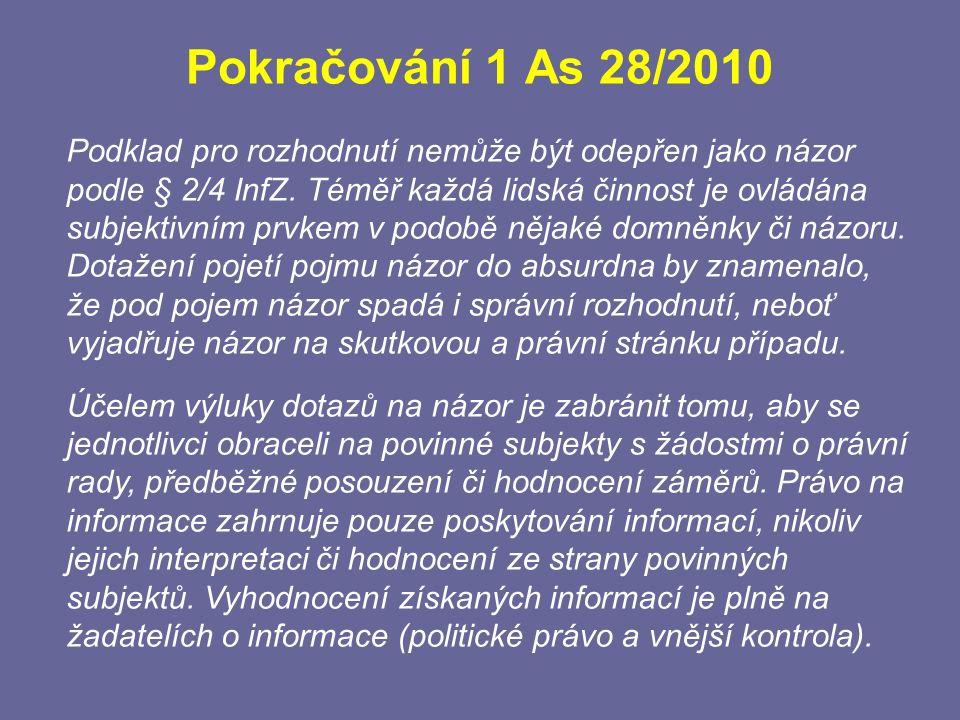 Pokračování 1 As 28/2010