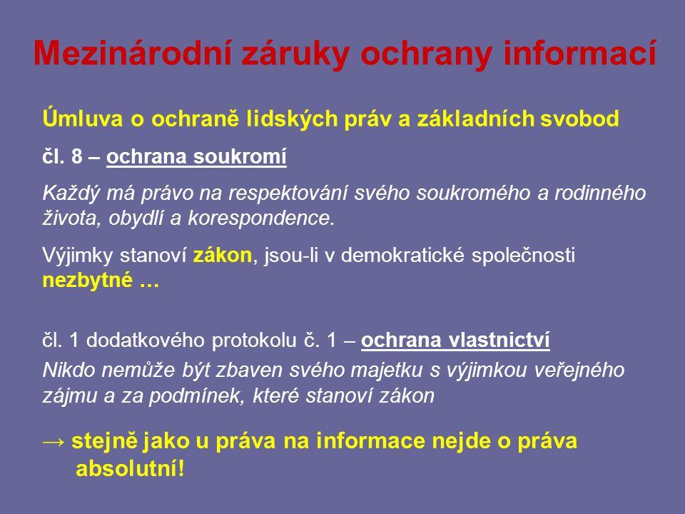 Mezinárodní záruky ochrany informací