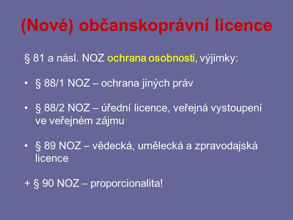 (Nové) občanskoprávní licence