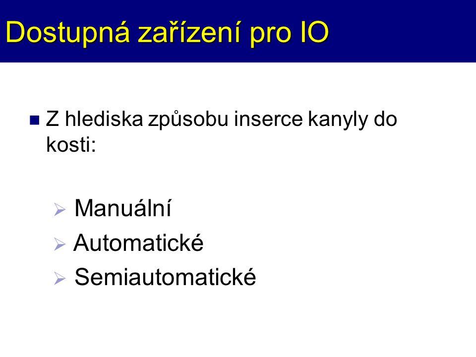 Dostupná zařízení pro IO