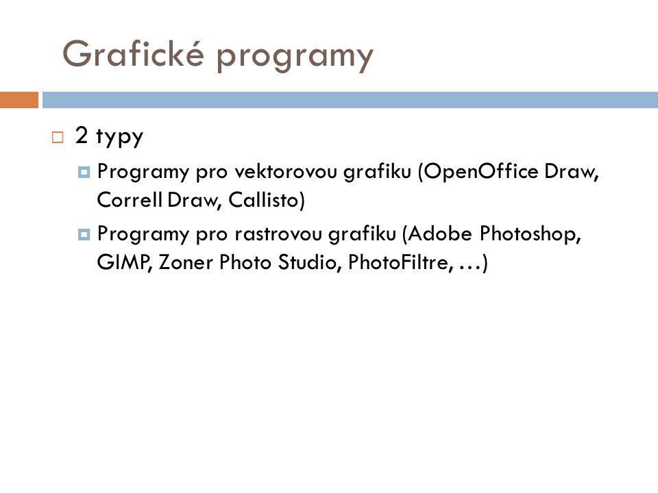 Grafické programy 2 typy