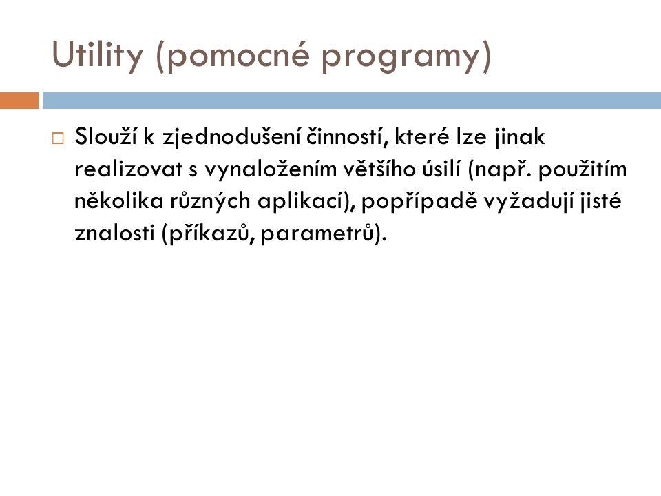 Utility (pomocné programy)