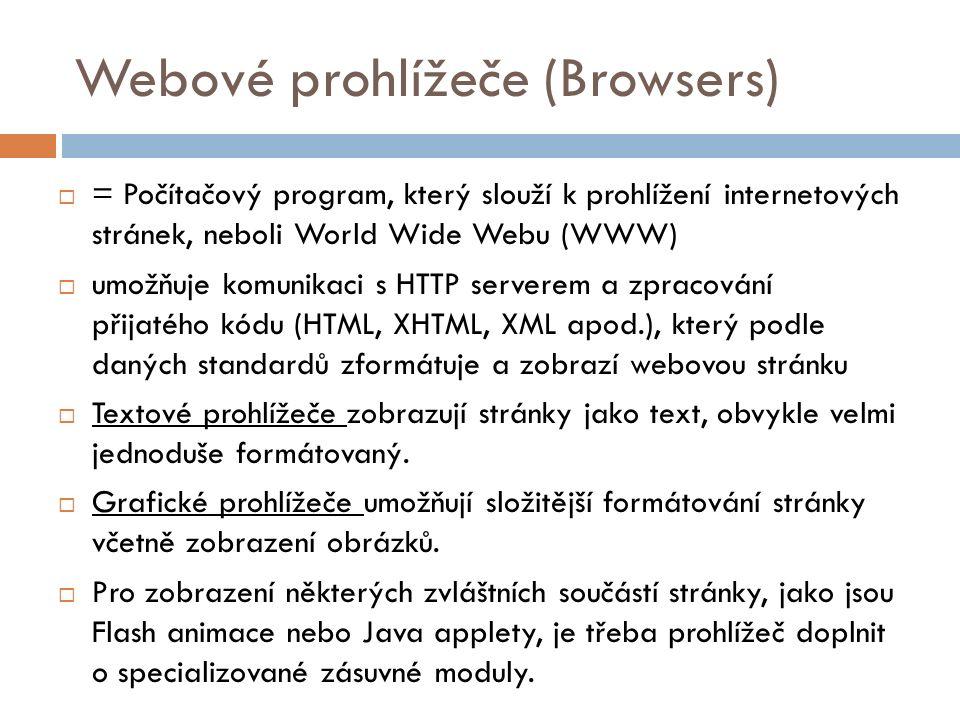 Webové prohlížeče (Browsers)