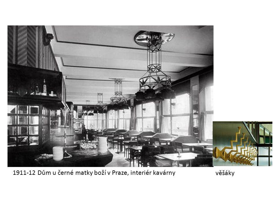 1911-12 Dům u černé matky boží v Praze, interiér kavárny