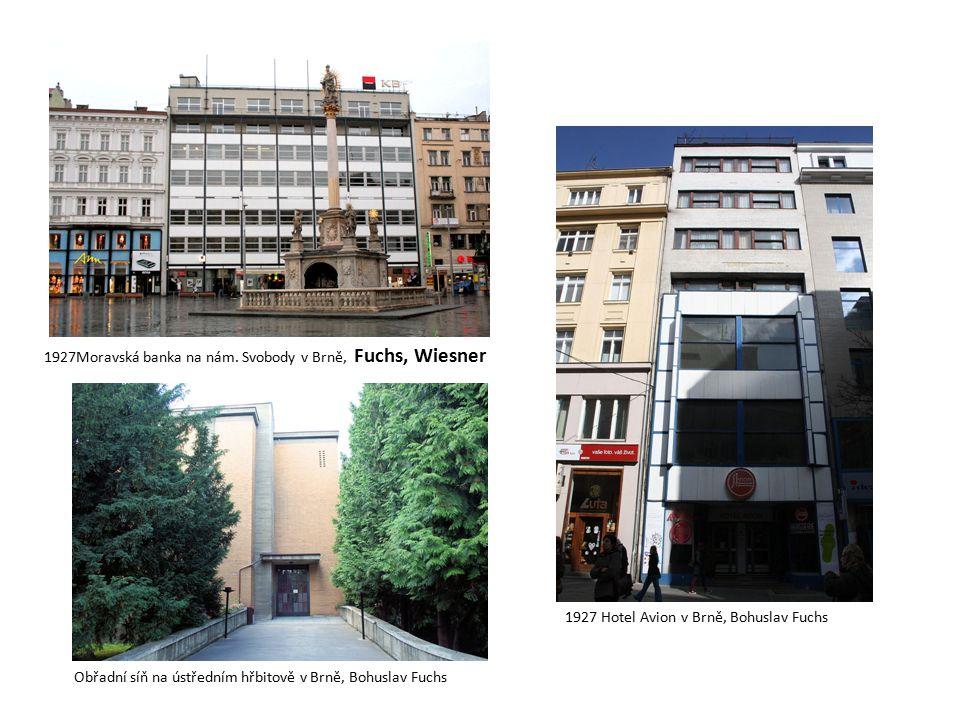 1927Moravská banka na nám. Svobody v Brně, Fuchs, Wiesner
