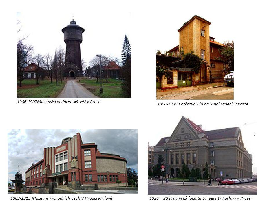 1906-1907Michelská vodárenská věž v Praze