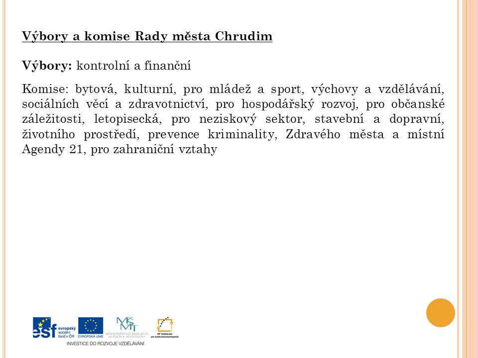 Výbory a komise Rady města Chrudim