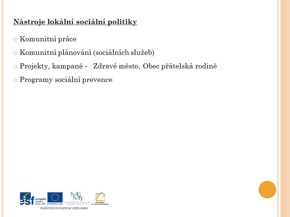 Nástroje lokální sociální politiky