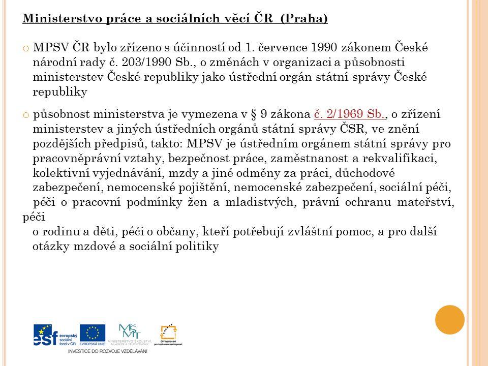Ministerstvo práce a sociálních věcí ČR (Praha)
