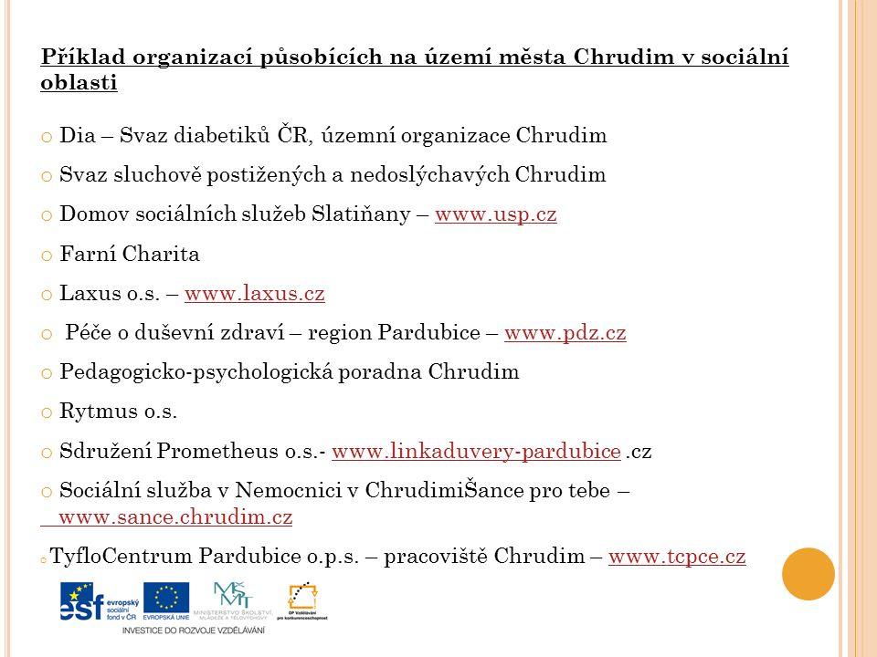 Dia – Svaz diabetiků ČR, územní organizace Chrudim