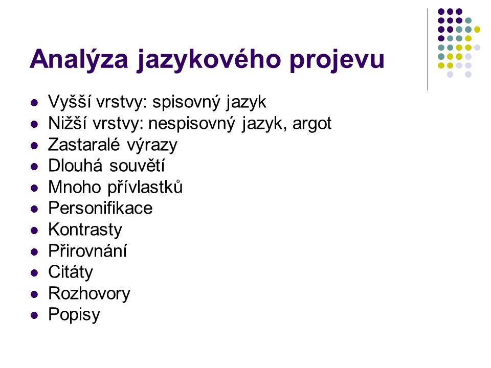 Analýza jazykového projevu