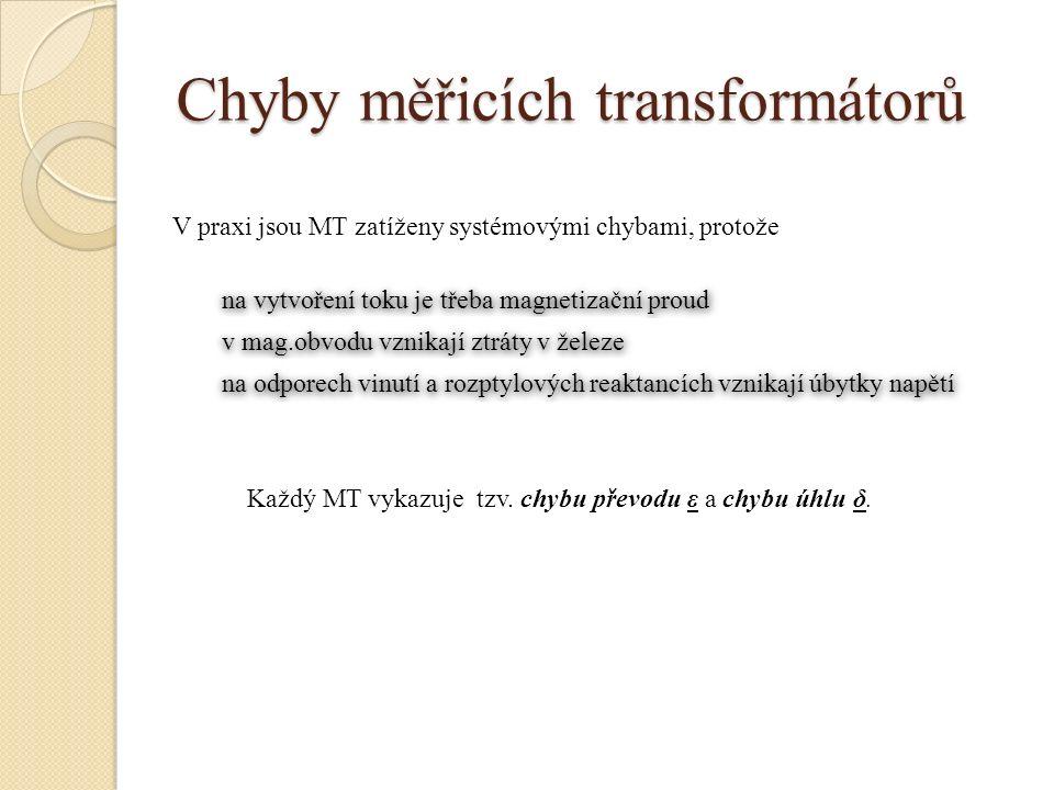 Chyby měřicích transformátorů