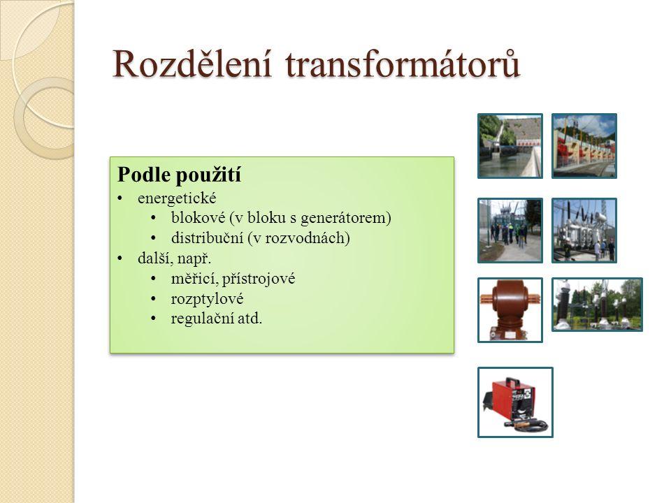 Rozdělení transformátorů