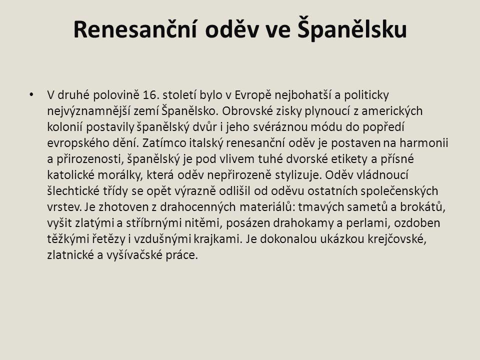 Renesanční oděv ve Španělsku