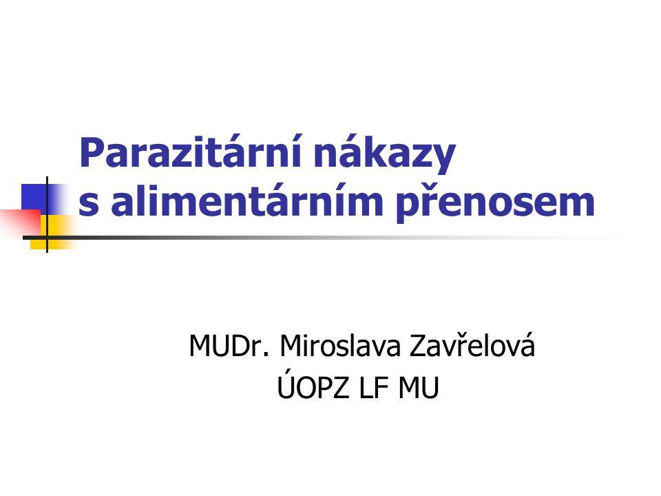 Parazitární nákazy s alimentárním přenosem