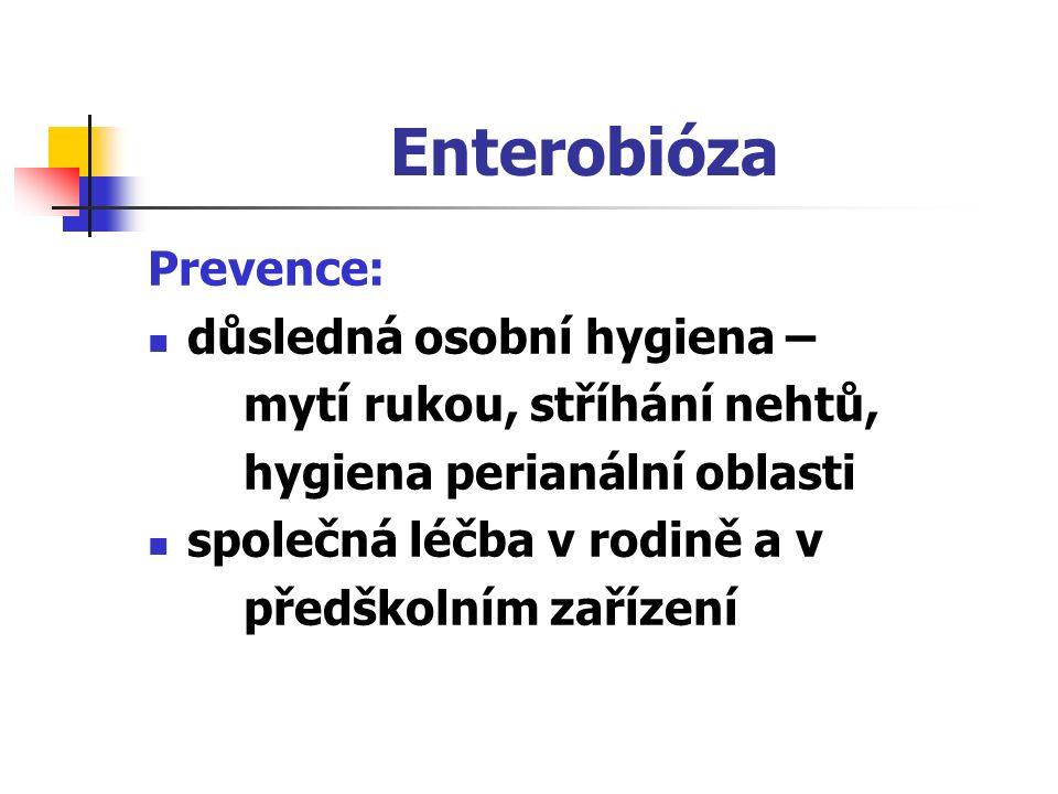 Enterobióza Prevence: důsledná osobní hygiena –