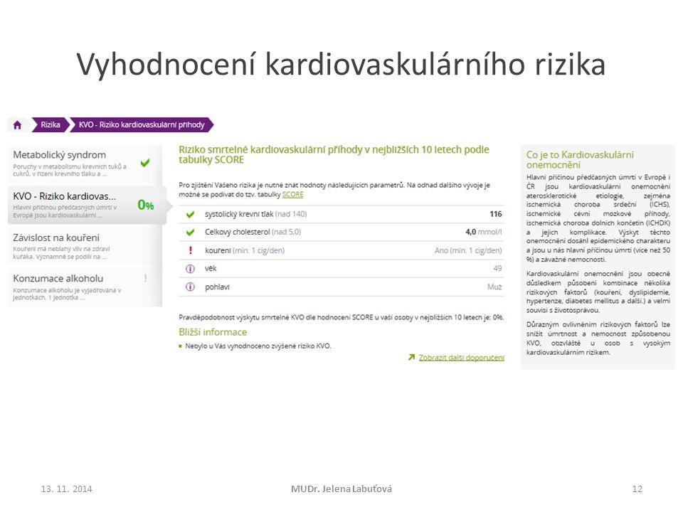 Vyhodnocení kardiovaskulárního rizika