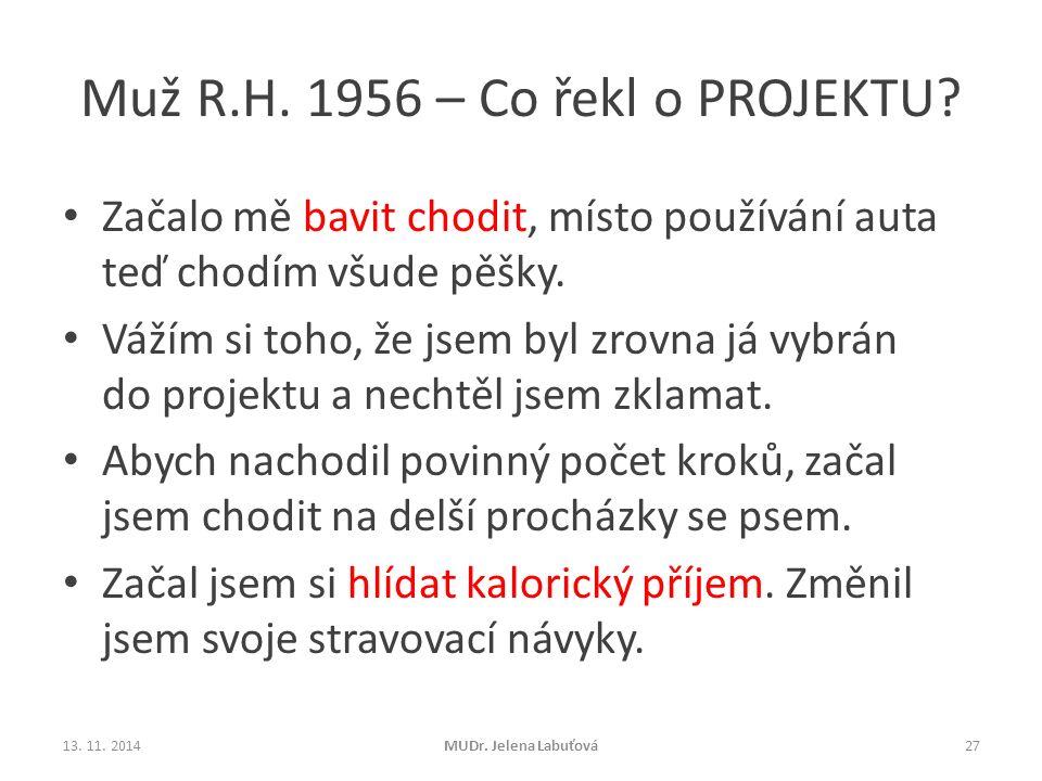 Muž R.H. 1956 – Co řekl o PROJEKTU