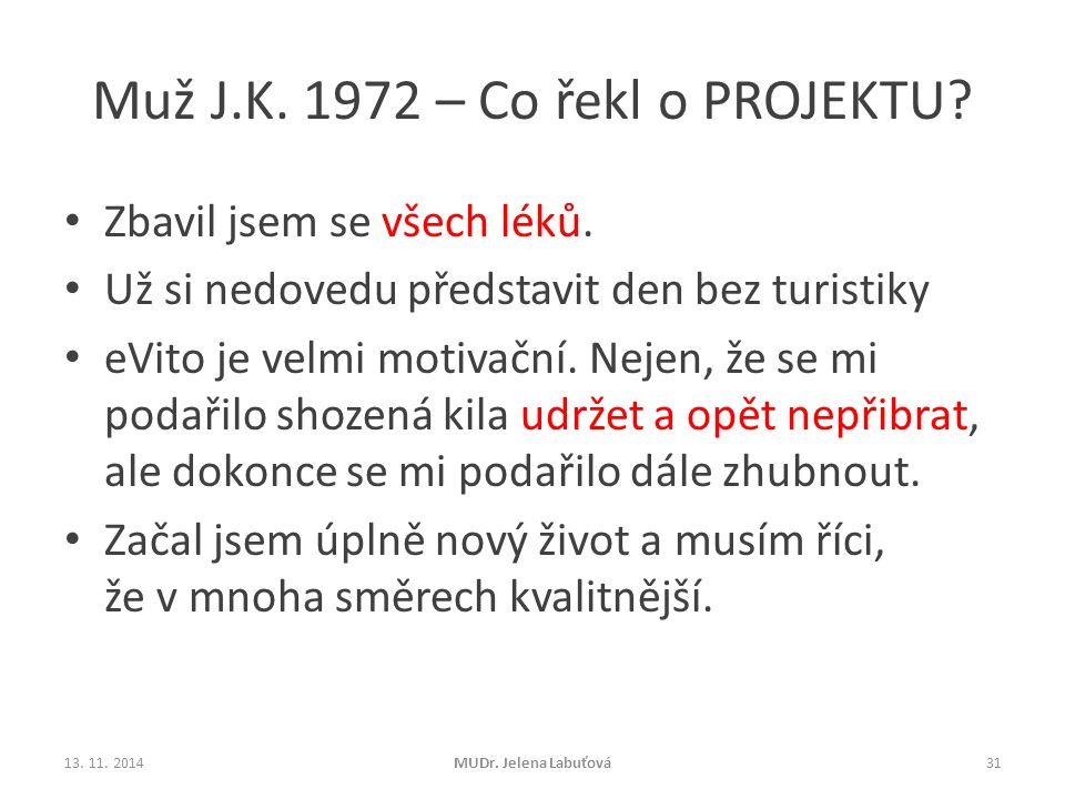 Muž J.K. 1972 – Co řekl o PROJEKTU