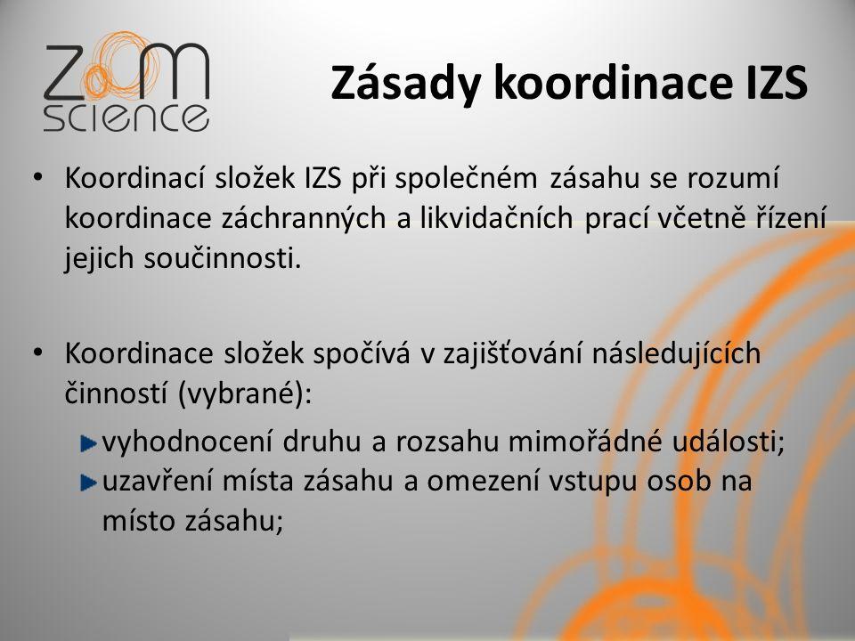 Zásady koordinace IZS