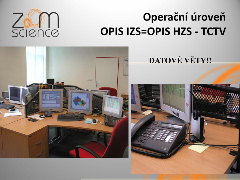 Operační úroveň OPIS IZS=OPIS HZS - TCTV